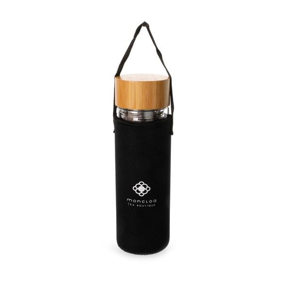 Garrafa de Vidro Duplo com Infusor Fit Duo Bottle 400ml Moncloa
